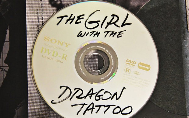 La edición pirata de «The Girl with the Dragon Tattoo» lanzada por Sony Pictures