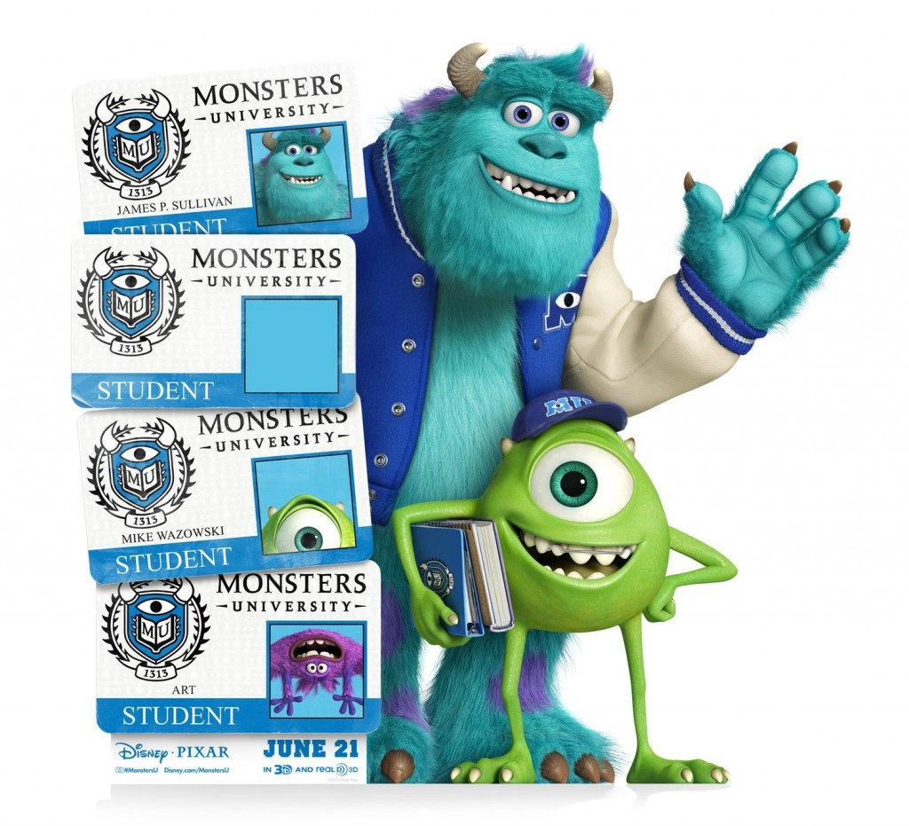 Monster University ID Card Standee