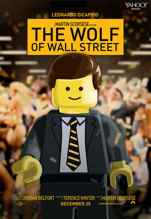 The wolf of Wall Street by Lego