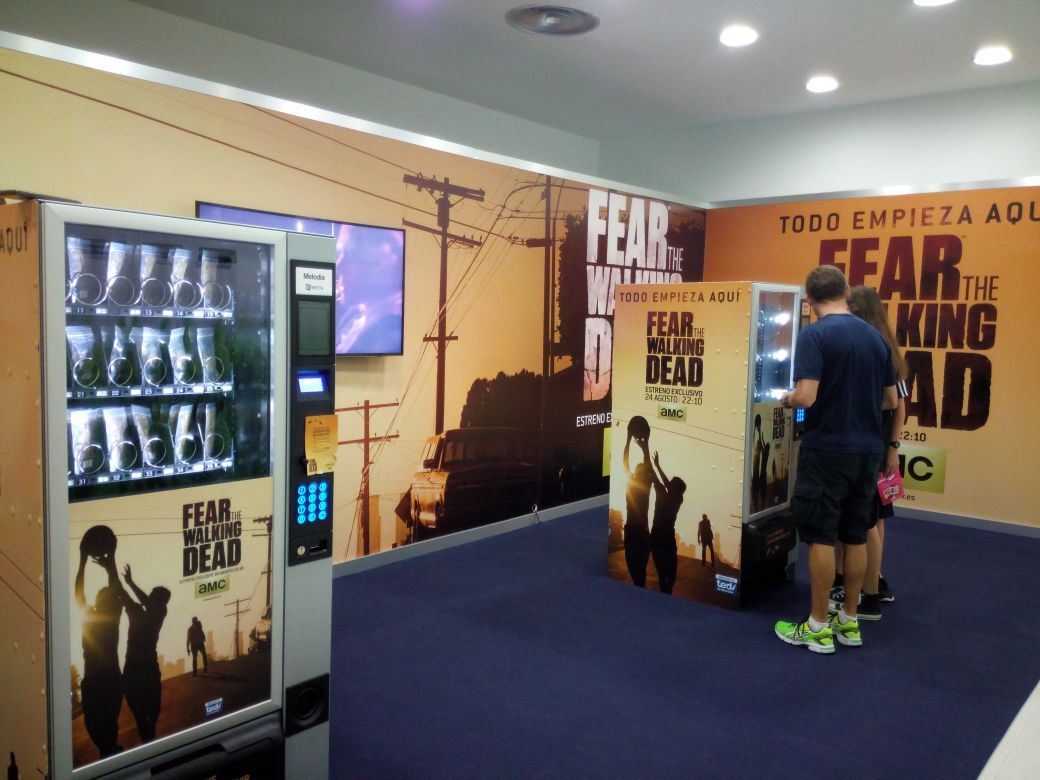 Vending Machines para promocionar Fear The Walking Dead