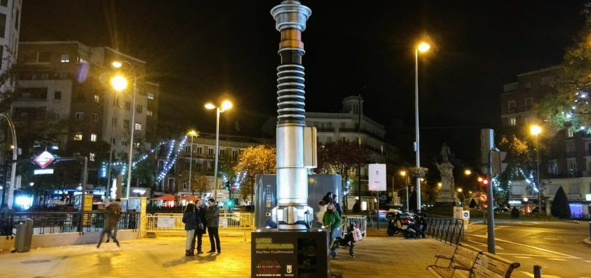 Madrid iluminada por los sables de Star Wars
